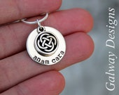 DAINTY Irish Hand Stamped Mommy Necklace - anam cara, gaelic, my soul mate
