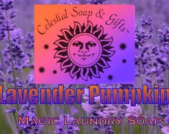 Lavender Pumpkin Natural VEGAN Laundry Soap Powder 6 oz SAMPLE 5-10 LOADS