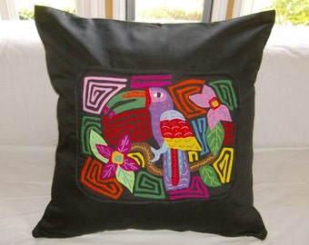 23 x 23 Black embellished pillow cover 204