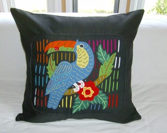 23 x 23 Black embellished pillow cover 208