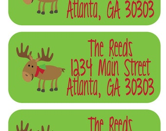 81 Holiday Address Stickers - Add a custom and personalized touch to all of your Christmas cards this year