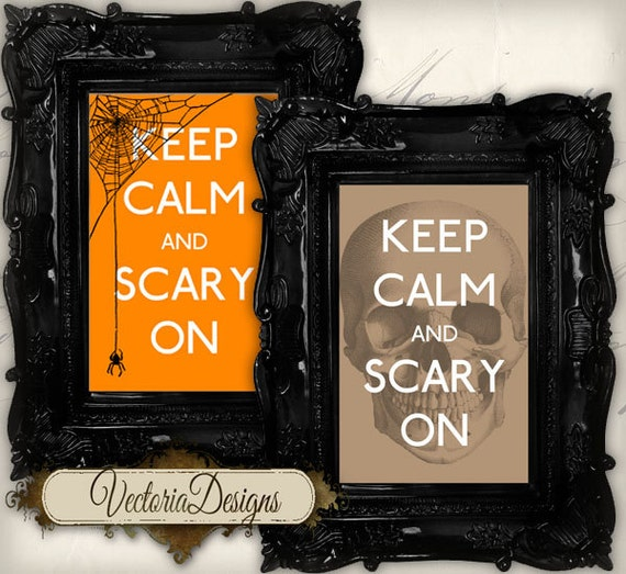 Halloween Printable Keep Calm Labels Tags instant download printable images digital collage sheet VD0225