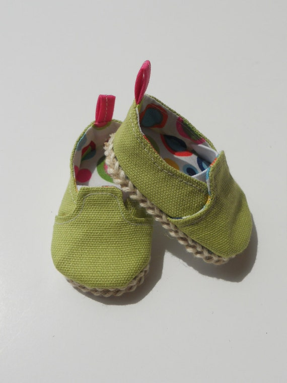 Spring Green Canvas Slip-ons for American Girl Dolls