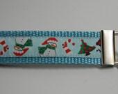 Snowman & Reindeer Key Fob 1 inch Wide