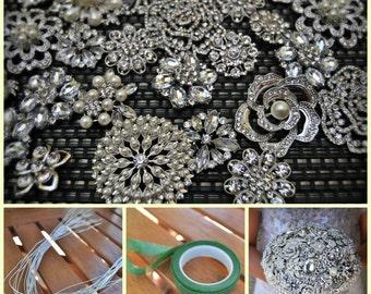 DIY Brooch Bouquet Kit - 75 Pieces (LARGE)