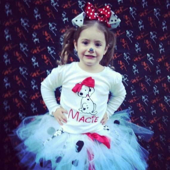 101 Dalmatian Inspired Tutu - Halloween Costume - NB-5T