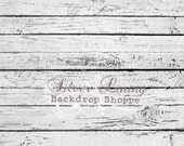 8' x 10' Photography Backdrop Extra LARGE White Barnwood Floor Vinyl PHOTO PROP