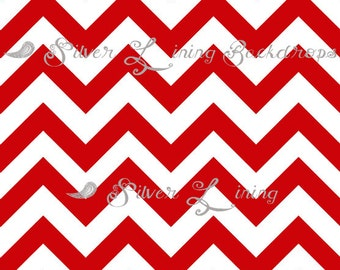 SALE 54 in x 5 ft Photography Backdrop RED Chevron photo prop Modern