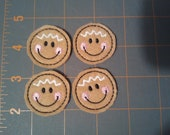 Gingerbread faces felties