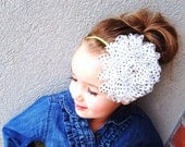 XL CHIFFON Polka Dot Collection on Skinny Elastic - Holidays, Christmas, baby girl woman child  newborn headband
