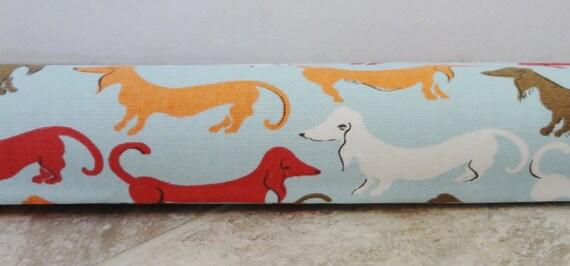 Door draft stopper draft dodger door draft orange red white - Dog door blocker ...