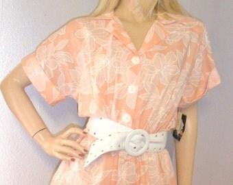 Vtg Miss OOPS Peachy Dress Unworn  with Tag Sz 16