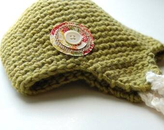 Womens Hat - Green Wool