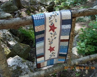 quilted handpainted table runner