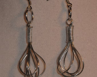 Wire Wrapped Wire Whisk Earrings MADE to ORDER