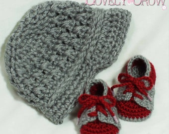 Boy Sports Crochet Pattern Includes Little Sport NEWSBOY HAT and Little Sport SADDLES digital