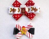 Christmas, Christmas Bow, Gingerbread Bow, Stockings, FREE BOW