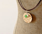 Happy Things - Laser cut wooden pendant