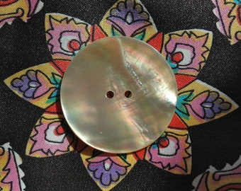 Huge Victorian Mother of Pearl Button.