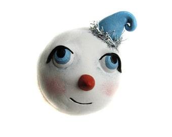 Christmas Decor - Snowman Magnet - Whimsical Snowman