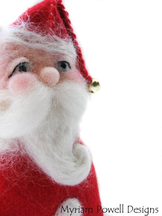 Santa - Christmas Decor - Santa Doll - Santa Art Doll