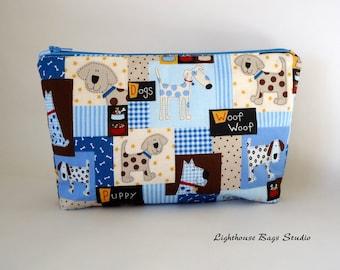 Wristlet Pouch w/ zipper - Puppy Love