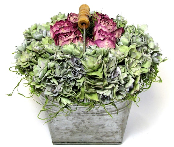 """Dried Floral Arrangement """"Floral Romance"""", European Floral Decor, Dried Flowers,  Floral Art"""
