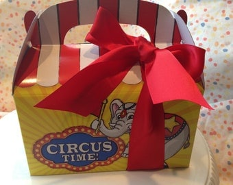 Circus Elephant Big Top Party Favor Lunch Box-Qty 10