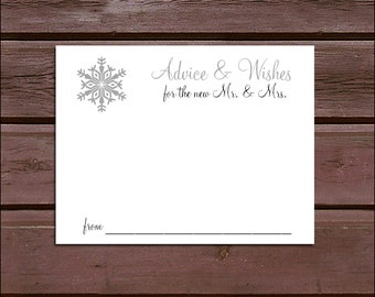 100 Snowflake Advice and Wishes. Wedding Favors