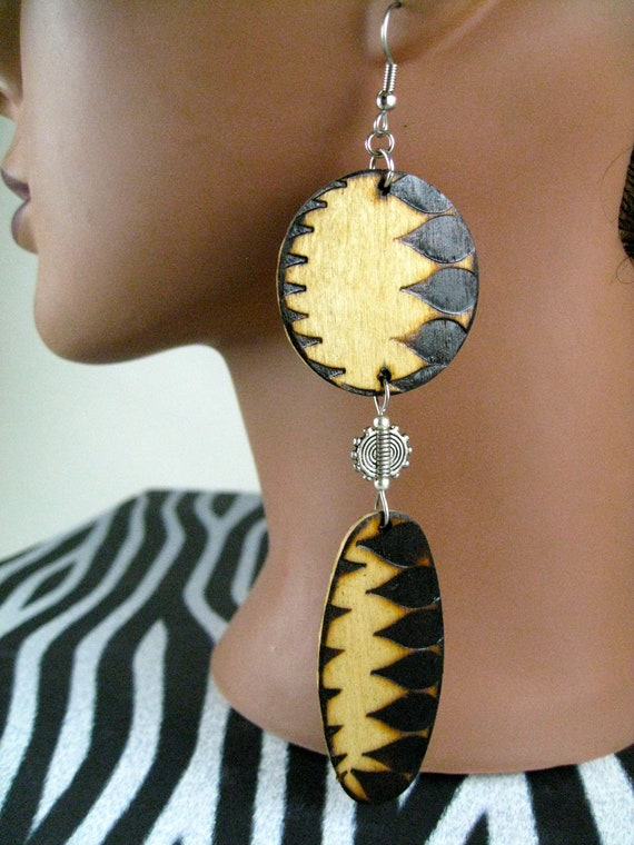 A Natural Beauty Woodburned Earrings