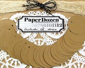 Gift Tag - Gift Packaging / Wrap - Party Decoration / Price Tag / Party Favor Tag - Handmade / Shower / Natural / Woodsy / Brown Kraft