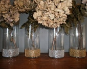 Items Similar To Bridal Party Bouquet Holders Set Of 6 Bling Wedding Vases On Etsy