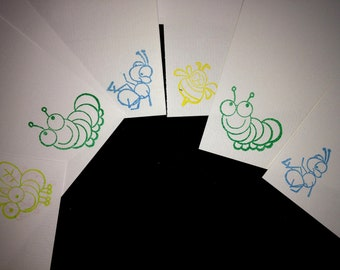 Insects/ creepy crawlies letter writing set