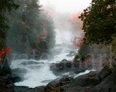 Misty Falls - Algonquin Park 8'x10' Digital, Printable Fine Art Photography, Wall Decor, Landscape Autumnumn