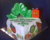 Fondant Caterpillar Birthday Cake Topper