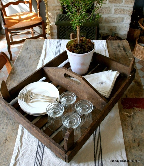 Vintage French Fruit Crate Tray