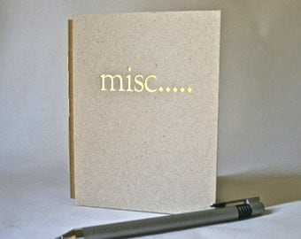 Blank Book Handmade Journal with Stamped Hardcover for Writer & Artist Stocking Stuffers