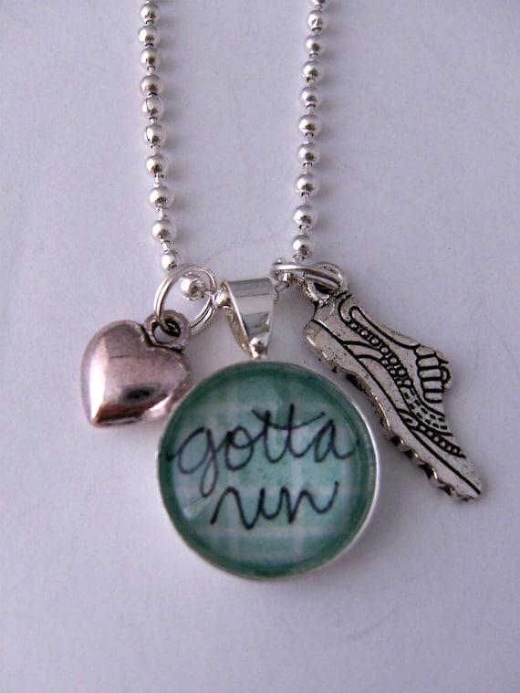 Necklace - Gotta Run - Running Shoe - Heart