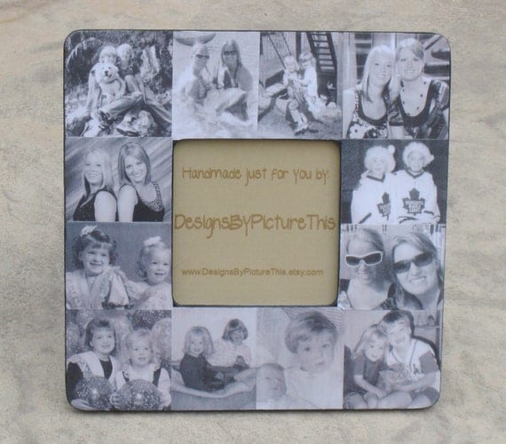 "Personalized Sister Gift, Maid of Honor Picture Frame, Custom Collage Bridesmaid Frame, Bridal Shower Gift Frame, 8"" x 8"""
