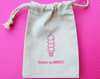 Ice Cream Favor Bags / Set of 20/Birthday Party Favor Bag