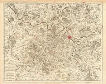 1711 Map of Paris