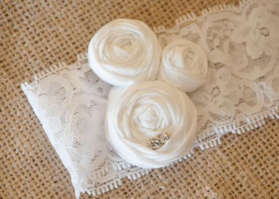Store Liquidation Sale...bridal rosette garter .... photo prop