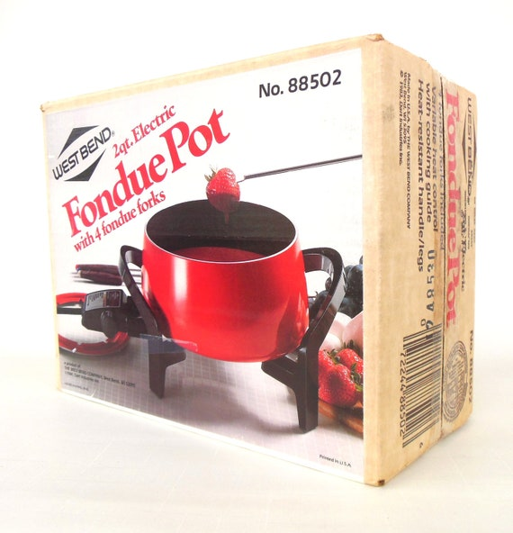 Electric Fondue Pot West Bend Vintage 1980s By Lauraslastditch