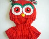 Owl baby hat, a ski mask, overalls, hat, neck strap, Epaulet, OVERALLS HAT-