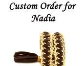 Chocolate Brown Triple Wrap Leather Braided Bracele-Gold Bulk Chain Leather Bracelets-ECO Friendly Jewelry