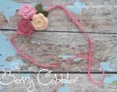 Felt Rose Flower Headband--The Maizy--in Berry Cobbler