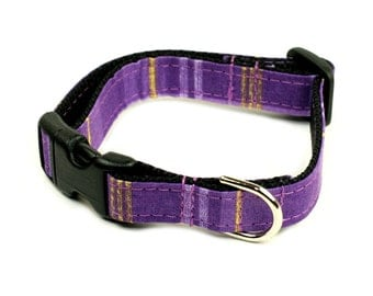 "Ready To Ship - Small 5/8"" Dog Collar - Purple Land"
