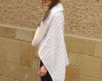 Knitted Transformer, Multifunctional Mohair Wear, Poncho, Capelet, Dress, Stylish Woman 8 in 1