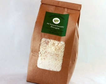 All Natural Eco Friendly Laundry Detergent , Laundry Soap , 1.5 pounds, You Choose Scent