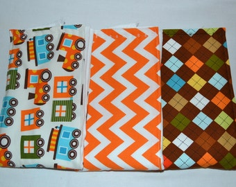 Boy Burp Cloths Chevron Train Argyle Burp Cloths - Boy Burp Cloth Set  Trains Chevron - Sweet Choo Choo